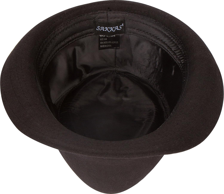 Sakkas Unisex Structured Wool Fedora Winter Hat 3 Colors