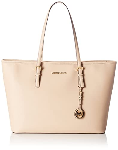 cd0d19220c1c Amazon.com  MICHAEL Michael Kors Jet Set Travel Medium Saffiano Leather  Top-Zip Tote  Shoes