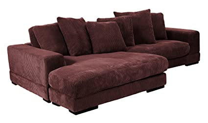 Fantastic Moes Home Collection Plunge Reversible Sectional Sofa Dark Brown Creativecarmelina Interior Chair Design Creativecarmelinacom