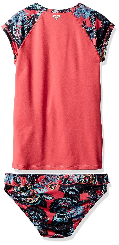 Roxy Big Girls Salt Memory Rashguard and Bottom Swimsuit Set ERGWR03071