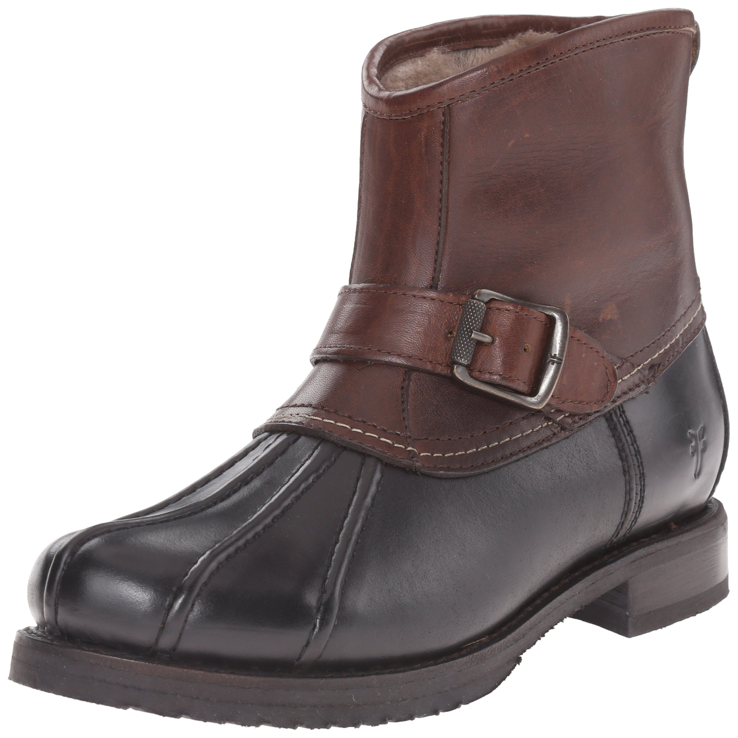 FRYE Women's Veronica Duck Engineer Winter Boot,  Black/Multi, 7 M US