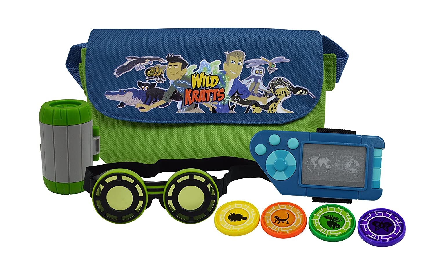 Wild Kratts Adventure Set - Includes Goggles, Creature Pod, Power Discs and More - For Halloween Costumes and Dress Up Play - 3+