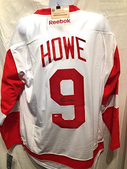 best service ba34e 9c20c Gordie Howe Detroit Red Wings Signed Autograph Reebok White ...