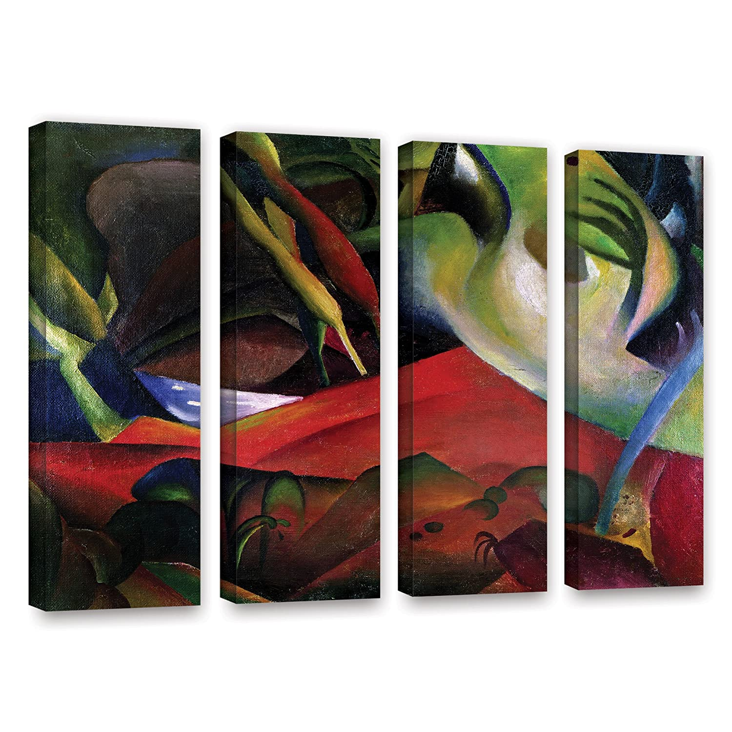ArtWall Franz Marcs The Storm 4 Piece Gallery Wrapped Canvas Set 24 x 32