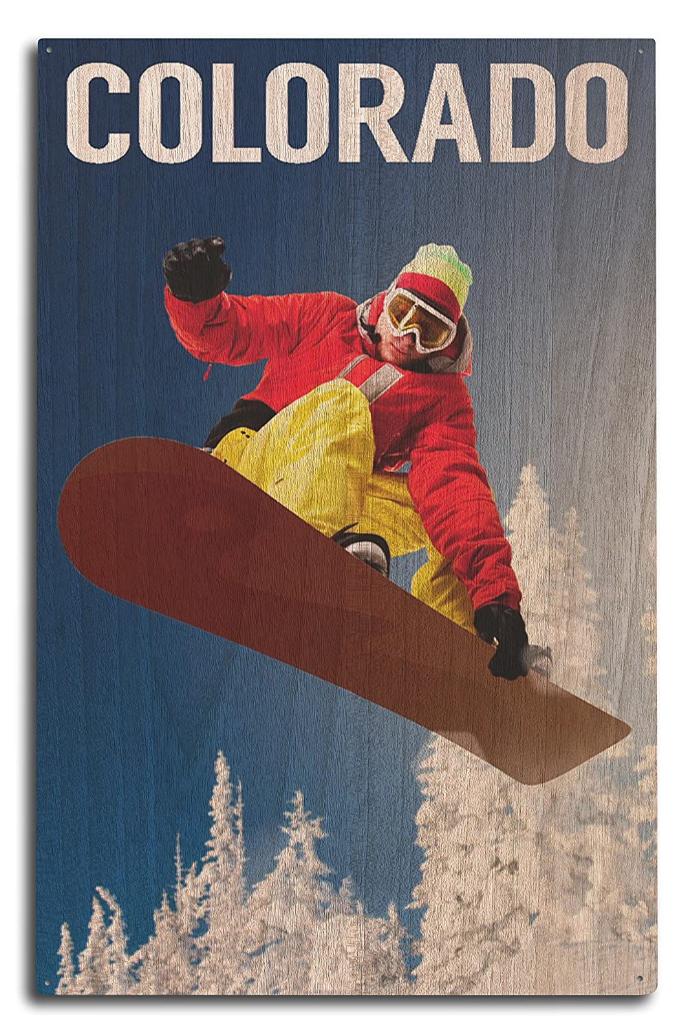 コロラド – Snowboarder 10 x 15 Wood Sign LANT-73505-10x15W 10 x 15 Wood Sign  B07366HM85