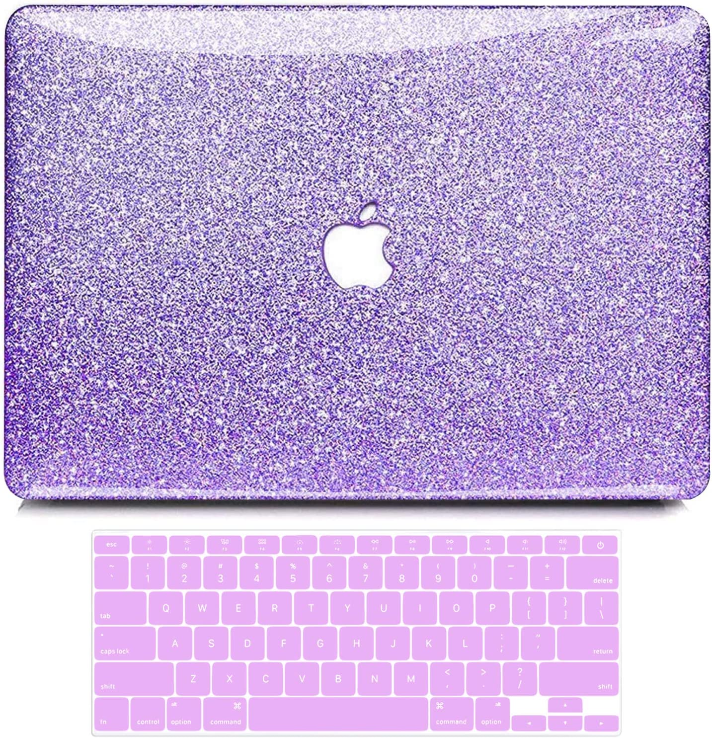 B BELK MacBook Air 13 Inch Case 2010-2017 Release Older Version A1466 A1369 Shining Sparkly Crystal Glossy Ultra Slim PC Hard Case with Keyboard Cover for Mac Air 13 Without Touch ID, Purple