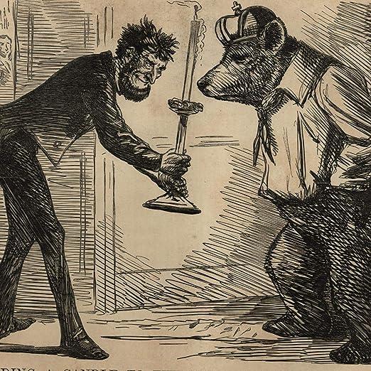 Amazon Com Abraham Lincoln Candle Russian Bear Political Cartoon