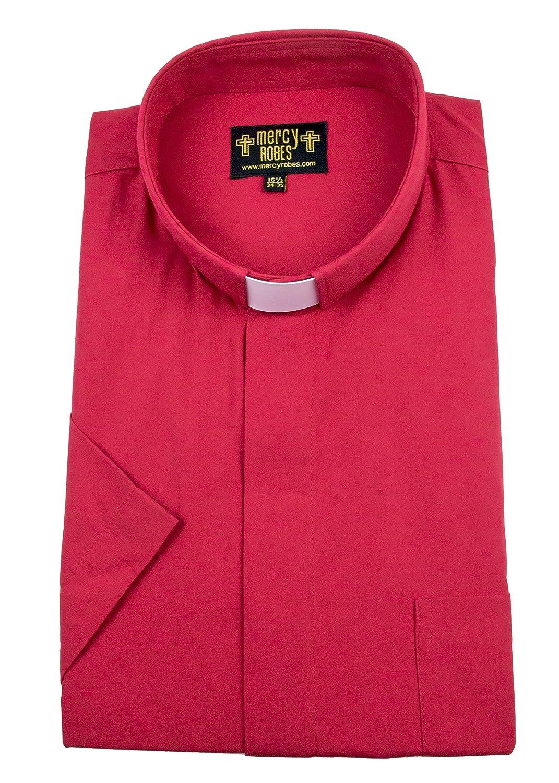 Mercy Robes Mens Short Sleeves Tab Collar Clergy Shirt At Amazon
