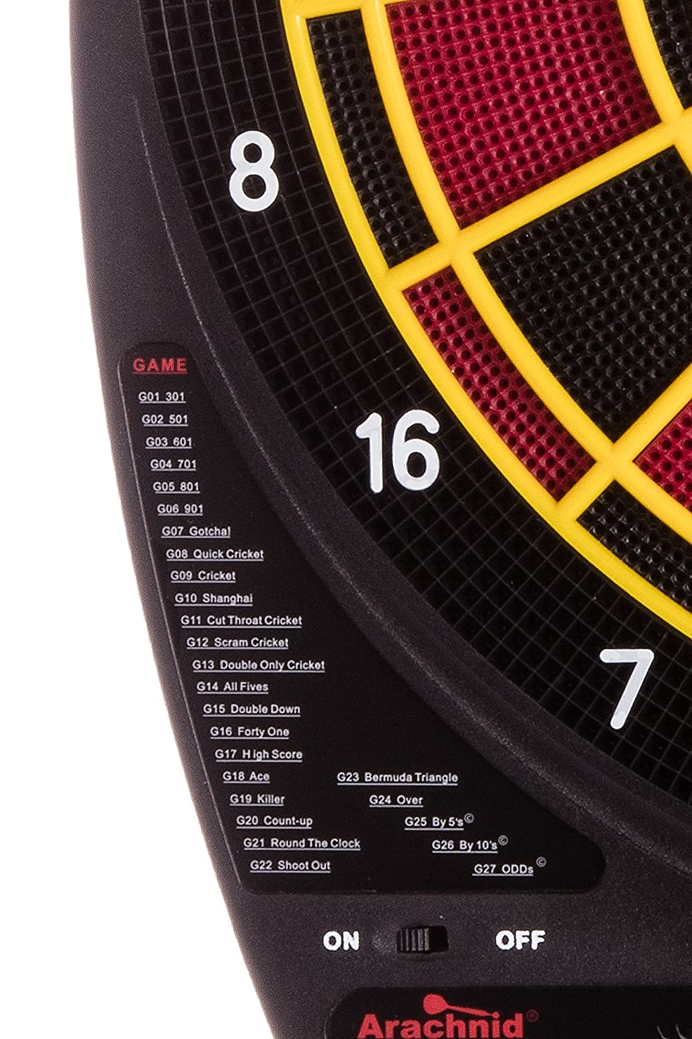 Arachnid Inter Active 3000 Recreational 13 Electronic Dartboard Features 27 Games With 123 Variation For Up To 8 Players