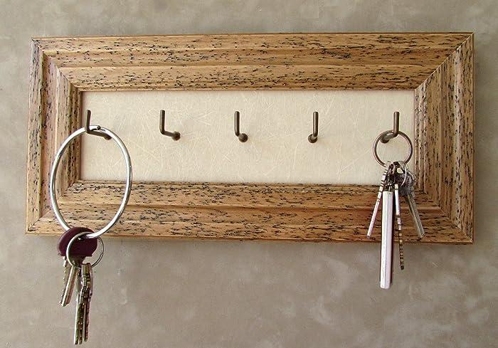 Distressed Key Holder, Wall Mounted Key Hooks, Rustic Key Holder, Cottage  Decor,