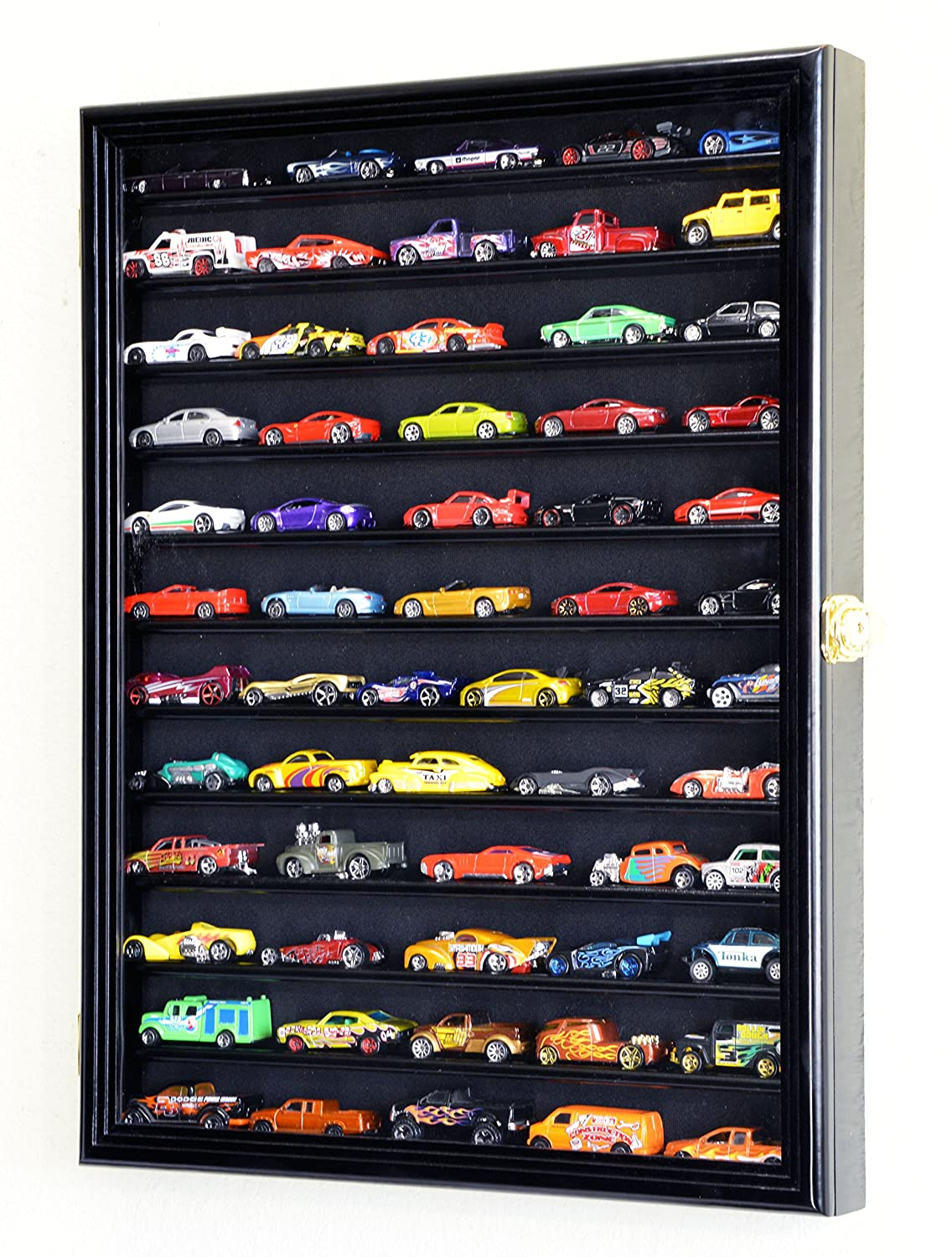 Hot Wheels and Matchbox Car Display Case Wall Rack