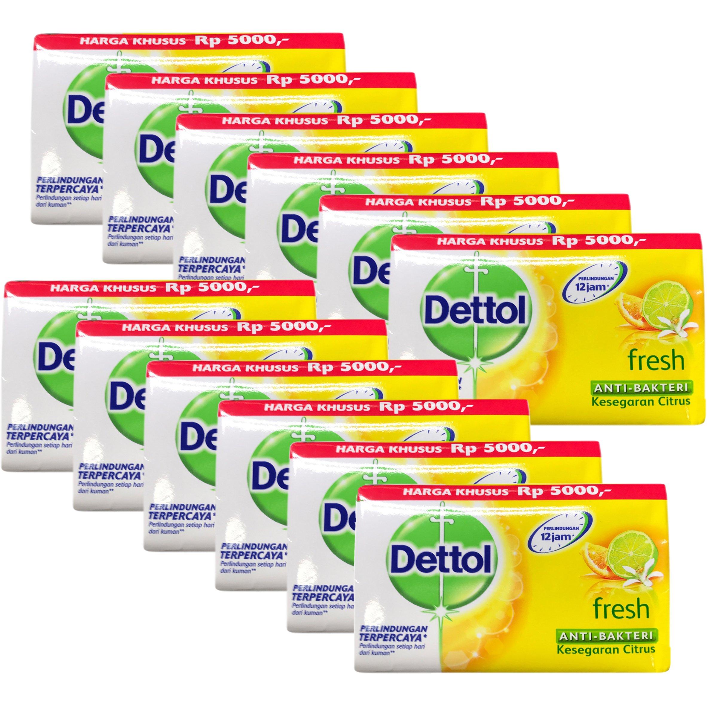 Dettol Anti-Bacterial Bar Soap, Re-Energize Fresh, 110 Gr / 3.88 Oz (Pack of 12)