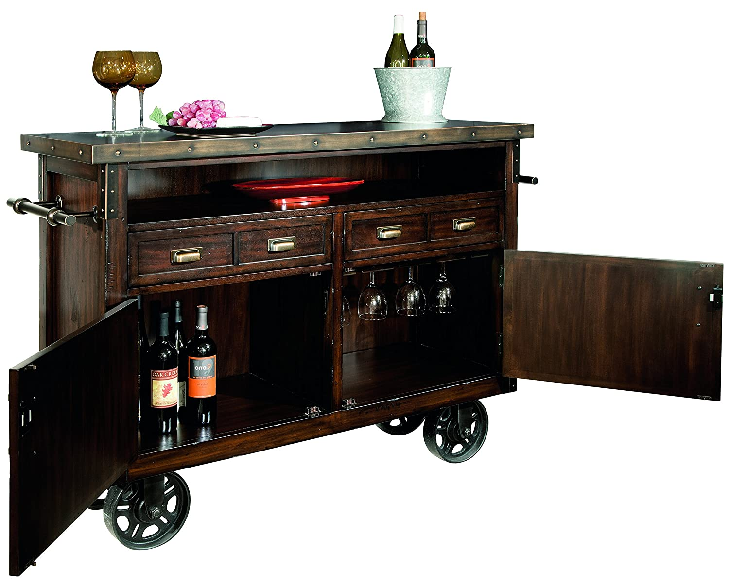 Merveilleux Amazon.com: Howard Miller Barrow Wine And Bar Storage Console: Kitchen U0026  Dining