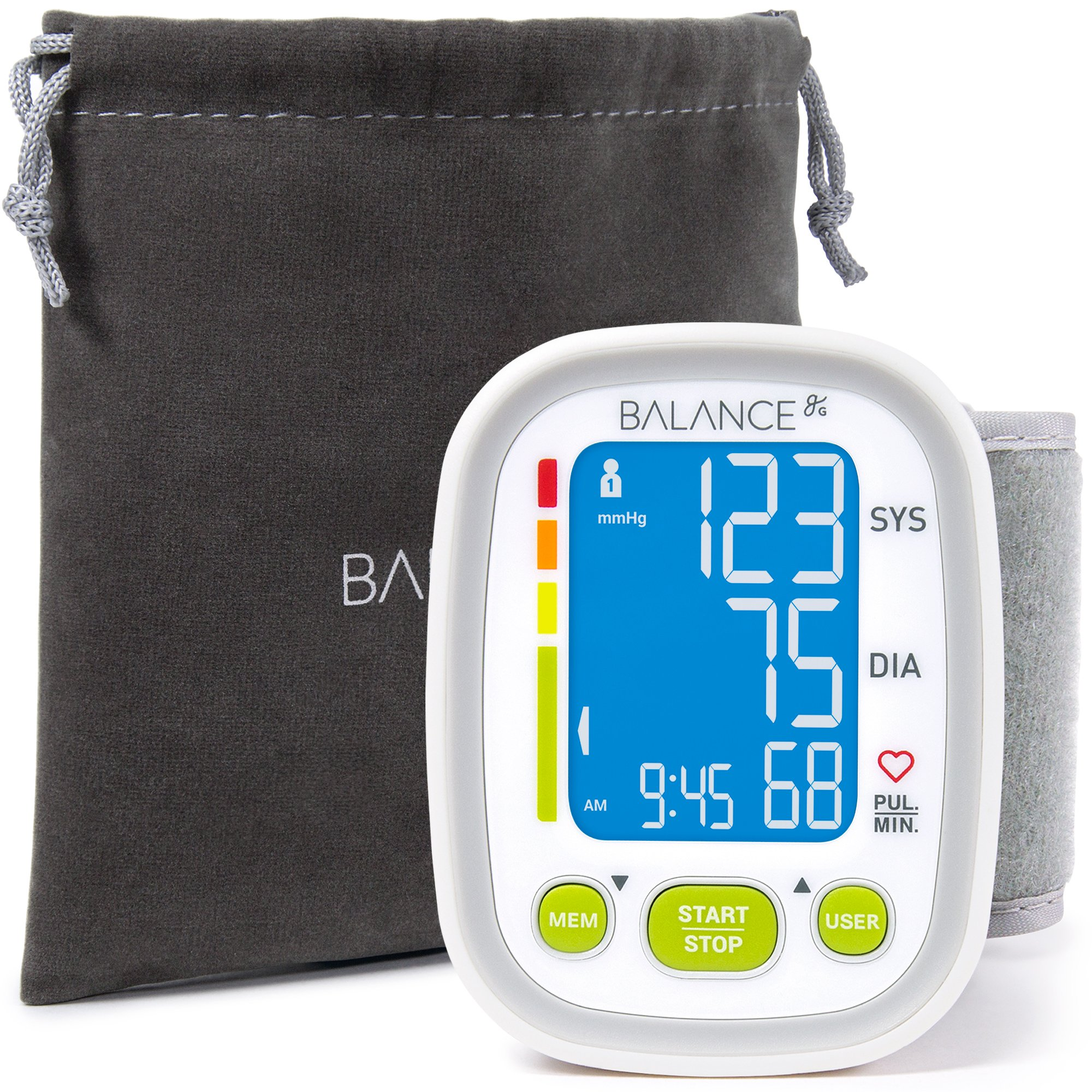 Balance Wrist Blood Pressure Monitor, (2018 Update), Free App for Tracking, NOT Bluetooth or WiFi, and 2-Year Warranty