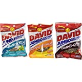 David Sunflower Seeds 5.25 oz Variety Pack (Pack of 6) 2 Bags of David Sunflower Seeds BBQ Natural Flavor + 2 Bags of David Sunflower Seeds Ranch Flavor + 2 Bags of David Sunflower Seeds Jalapeno Hot Salsa Flavor