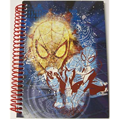 "East West Distributing Marvel Ultimate Spiderman College Ruled Spiral Notebook ~ Spidey Graphics (8"" X 10.5""; 70 Sheets, 140 Pages): Toys & Games"