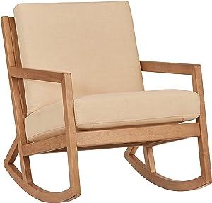 "Amazon Brand – Stone & Beam Modern Hardwood Rocking Chair, 24.5""W, Beige"