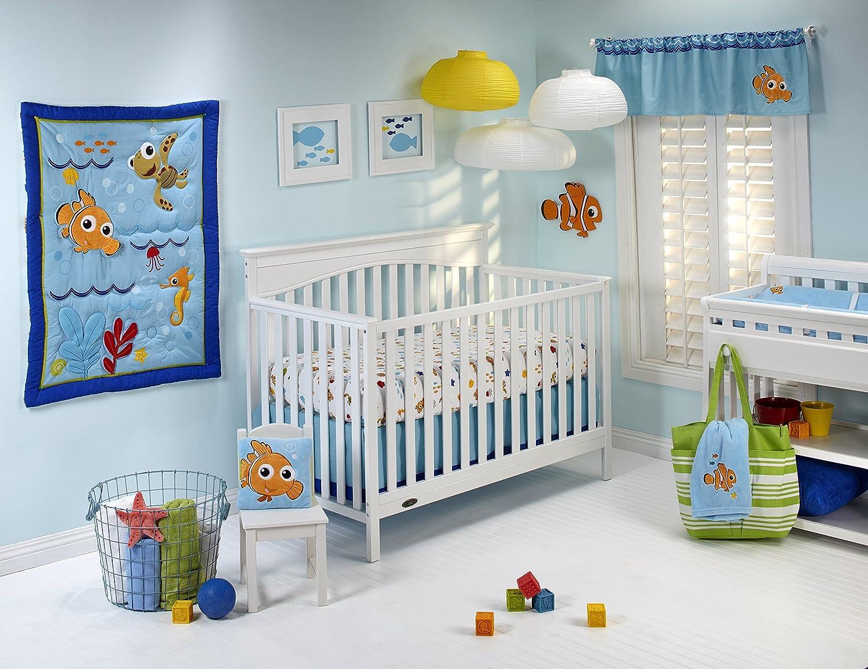 Disney Nemo Wavy Days 4 Piece Crib Bedding Set by Disney: Amazon ...