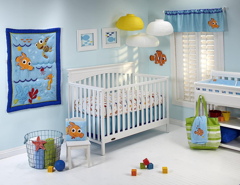Grey//Navy//Dark Charcoal//Black//Red Disney Mickey Mouse 6 Piece Nursery Crib Bedding Set