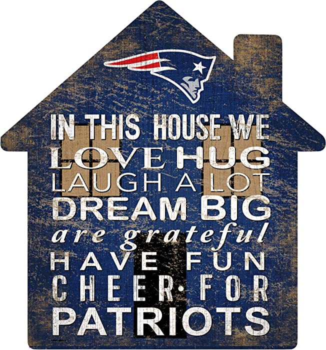 NFL New England Patriots Unisex New England Patriots House Sign, Team Color, 12 inch