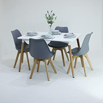 PN Homewares® Lorenzo Dining Table and  Chairs Set Retro and