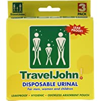 TravelJohn Disposable Urinal for Men, Women & Children 3 ea (Pack of ...