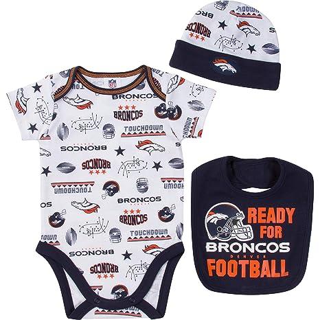 734840e13 Amazon.com : NFL Denver Broncos Unisex-Baby Bodysuit, Bib & Cap Set ...