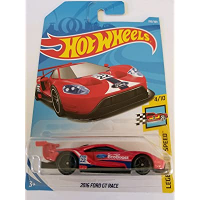 Hot Wheels 2020 50th Anniversary Legends of Speed 2016 Ford GT Race 195/365, Red: Toys & Games