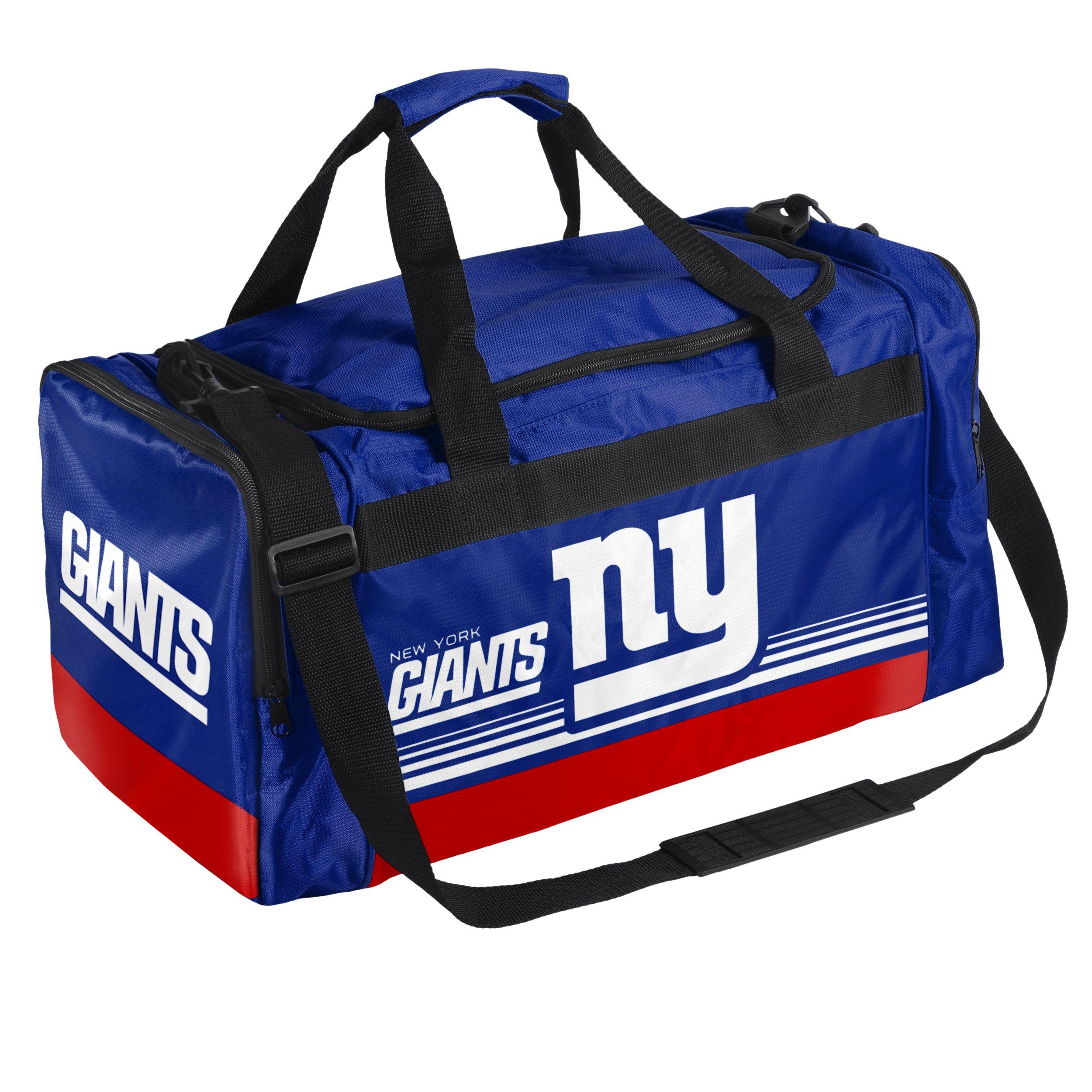 FOCO New York Giants Medium Striped Core Duffle Bag