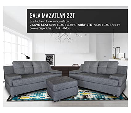 Sala Modelo Mazatlan 2 2 T - Gris Oxford: Amazon.com.mx: Hogar y Cocina