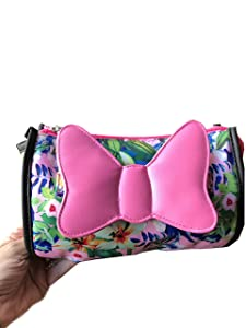 London SOHO New York - Minnie Mouse Cosmetic Bag (Clutch) with Pink Bow