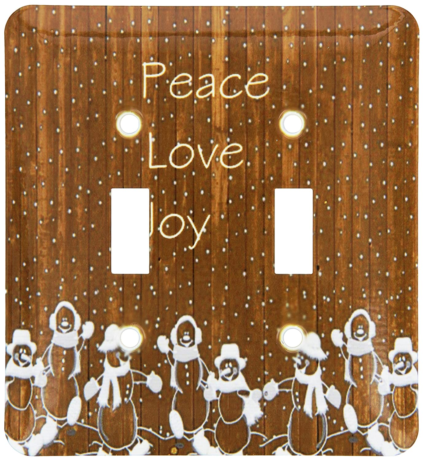 3dRose lsp/_194862/_2Print Of Country Peace Love Joy On Wood Double Toggle Switch