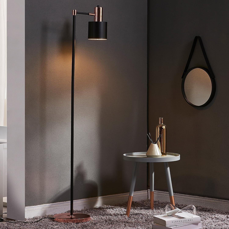 Versanora Monopiede Monopod Floor Lamps Black Rose Gold Amazon Co Uk Lighting