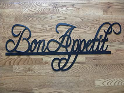 Say It All On The Wall Bon Appetit Sign Metal Wall Art Home/Restaurant Decor