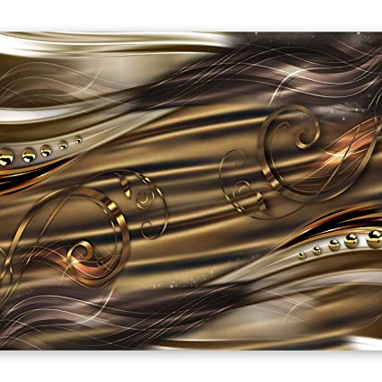 Artgeist Photo Wallpaper Gold Abstract 138x101 Xxl Non Woven Wall Mural Premium Print Fleece Picture Image Design Home Decor Aa 0084 Ab
