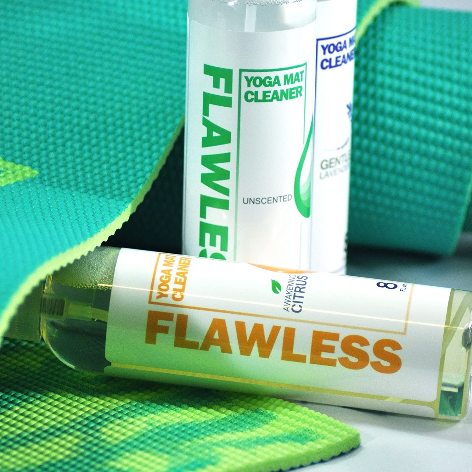 Amazon.com: Clean Flawless Yoga Mat Cleaner | All Natural ...