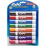 EXPO Low-Odor Dry Erase Markers, Chisel Tip, Assorted Colors, 8-Count