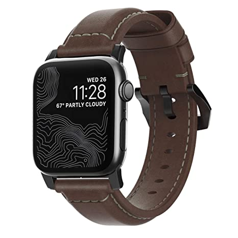Amazon.com: Nomad Horween Correa de piel para Apple Watch ...