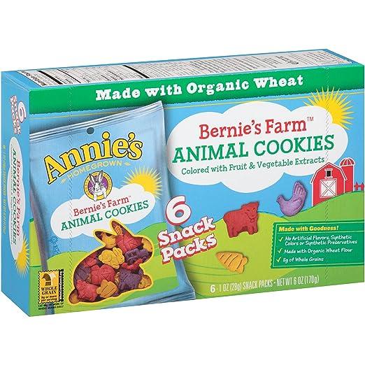 Annie's Bernie's Farm Animal Cookies, 6 Ounce