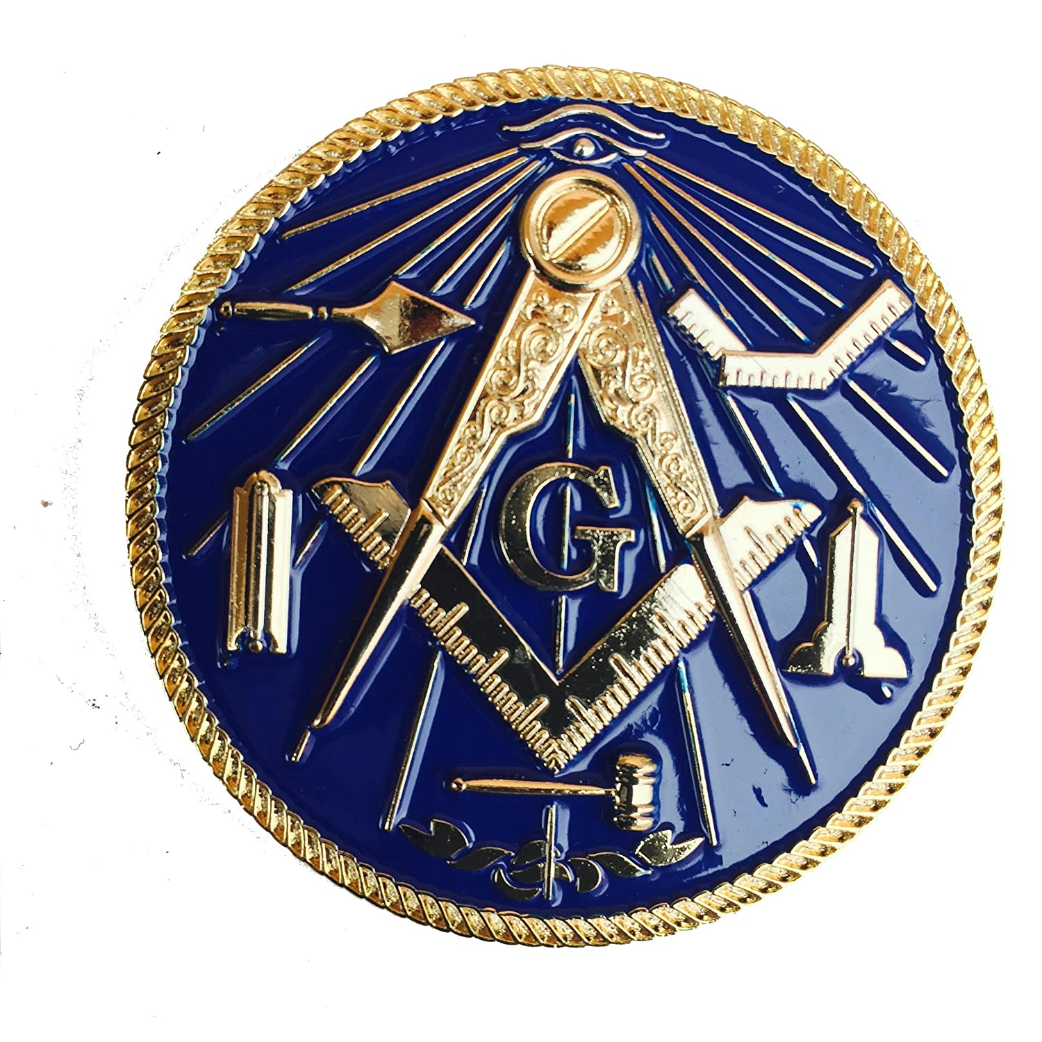 2 Mini Small Masonic Masters Motorcycle Compact Car Auto Emblem Reflex Blue Equinox Masonic Regalia MINIF-167YT178
