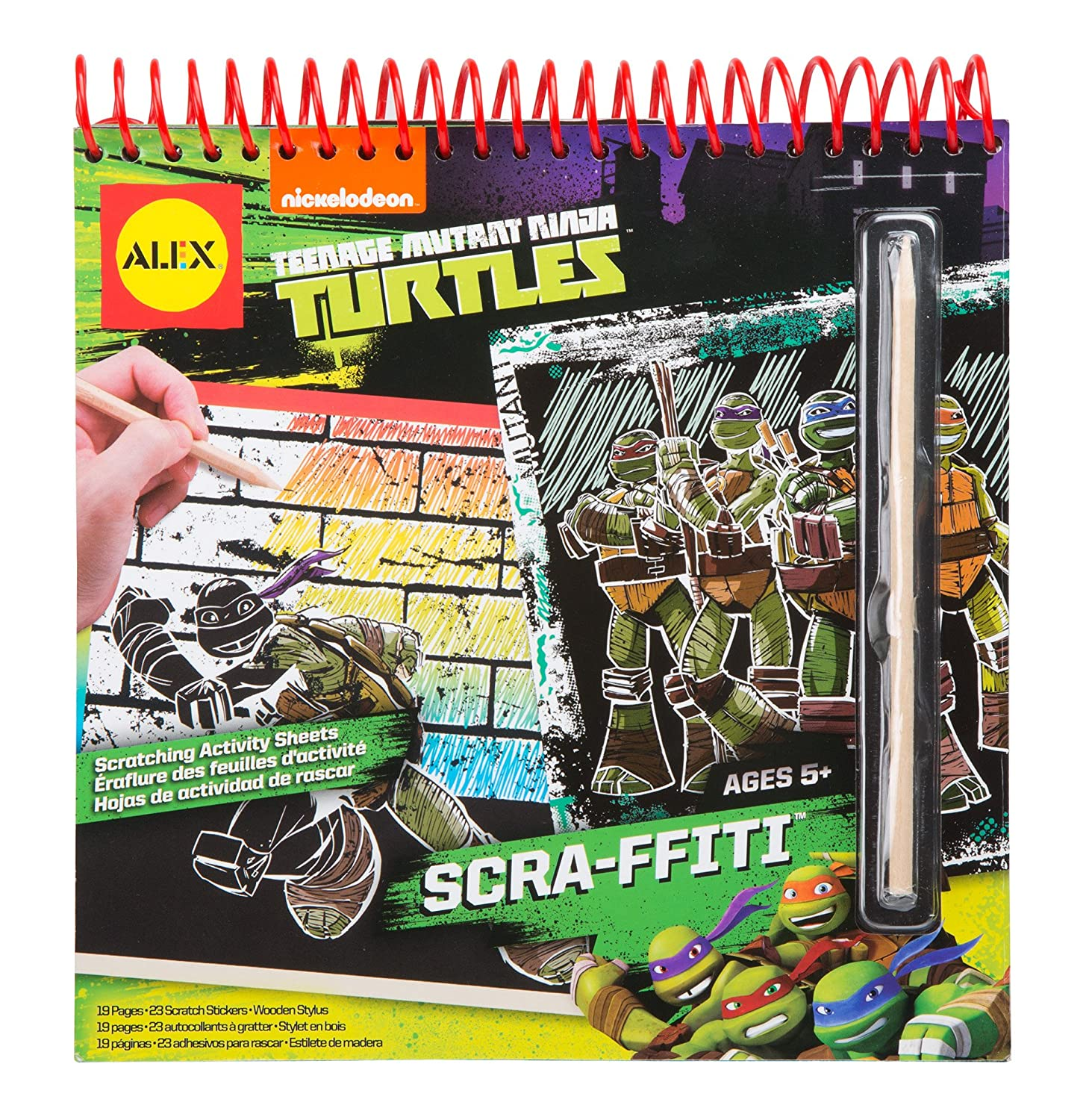 Amazon.com: Teenage Mutant Ninja Turtles Scra-ffiti Scratch Art ...
