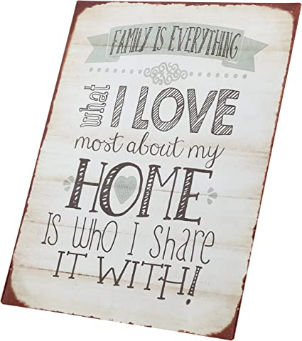Barnyard Designs Family is Everything Retro Vintage Tin Bar Sign Country Home Decor 10 x 13 FM14G01497