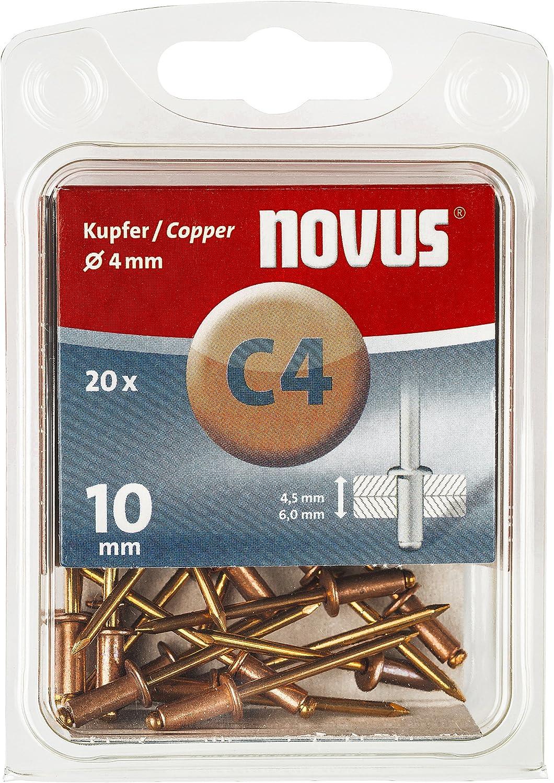 Novus 045-0039 Remache ciego A 4 X 10 Cu 20 St