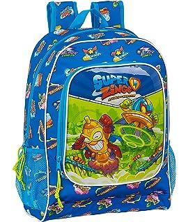 Safta Mochila Infantil de Superzings Serie 5 con Carro 705 , 270 x 100 x 330 mm, Color Azul: Amazon.es: Ropa y accesorios