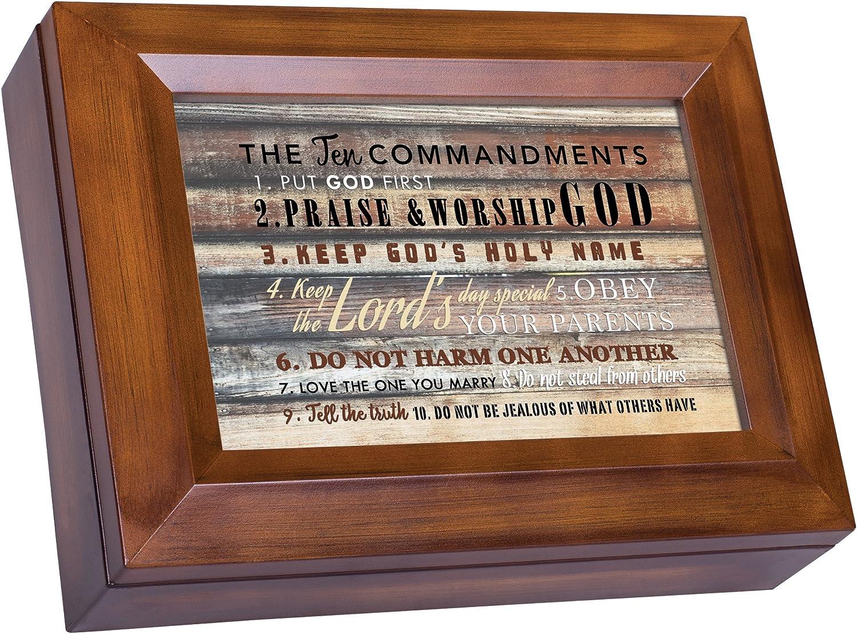 Cottage Garden The Ten Commandments Woodgrain Digital Keepsake Music Box Plays I Can Only Imagine