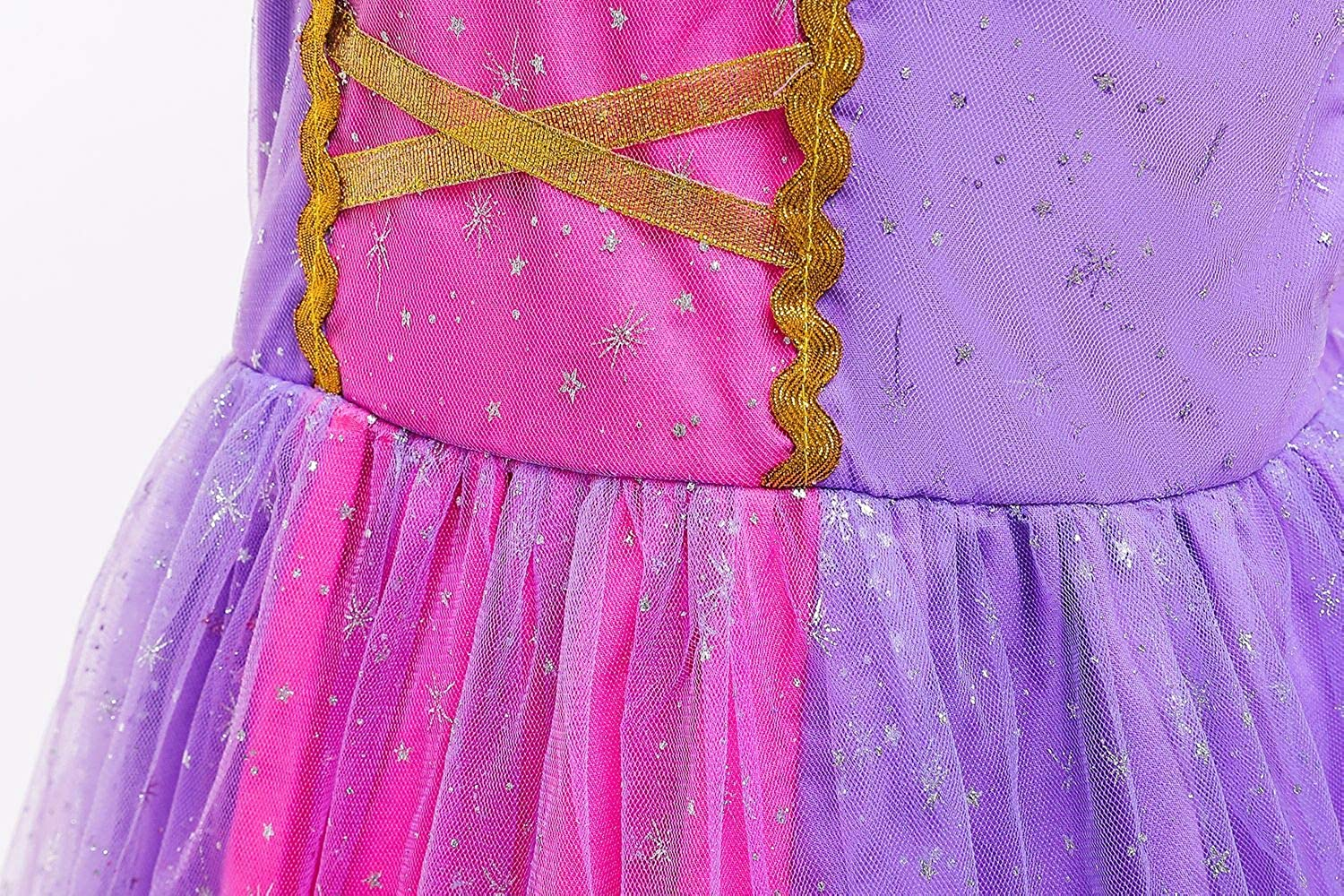 G.C Princess Costume Dress for Little Girls Fancy Birthday Cosplay Party Dress up