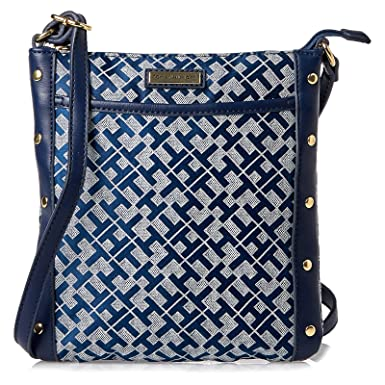 9dfaaf5e5e6 Tommy Hilfiger Crossbody Bag for Women - Blue: Amazon.ae ...