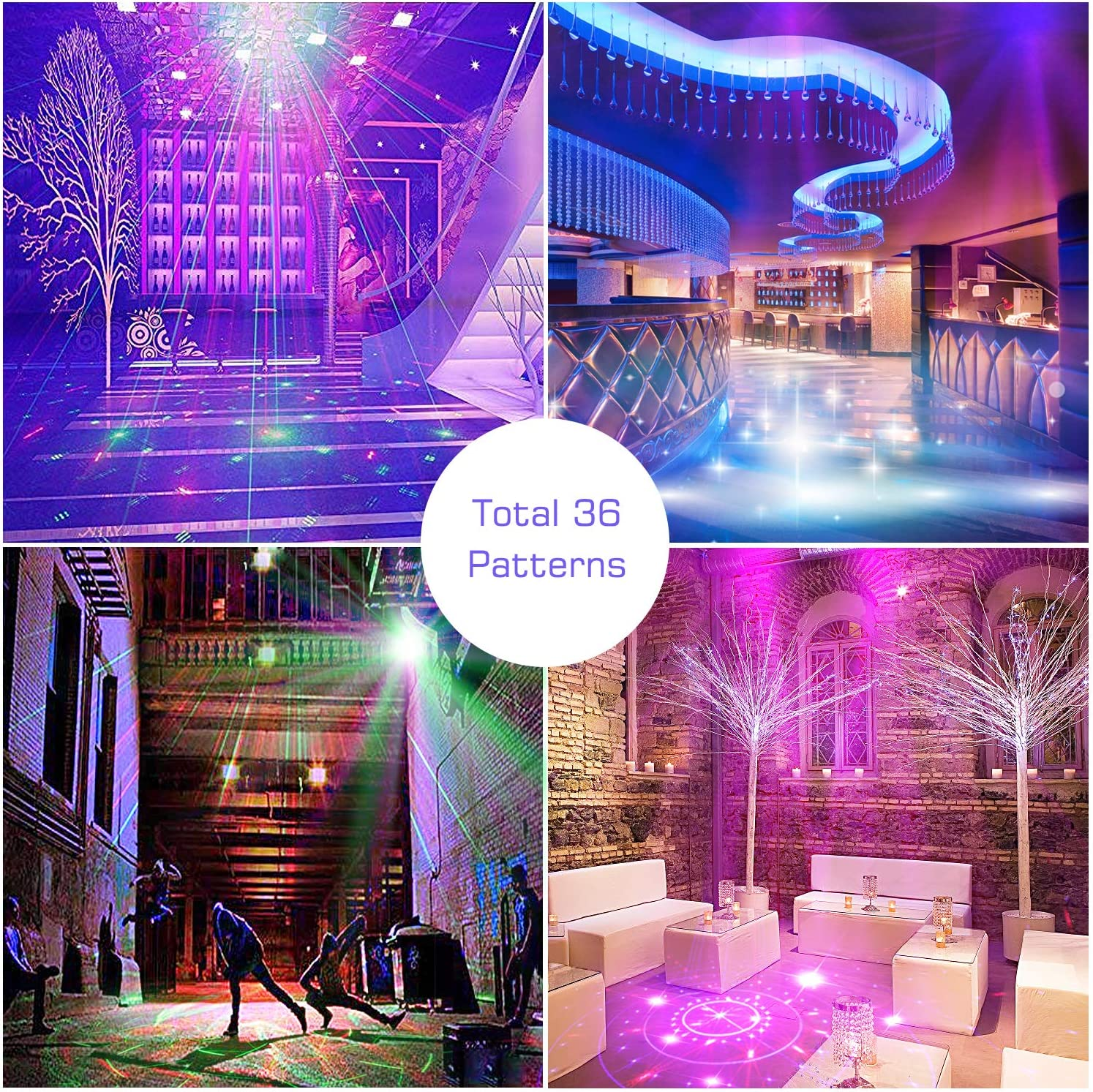 Bola de discoteca karaoke ni/ños fiestas club cumplea/ños Gvoo Sound activada Party Light LED proyector de escenario para vacaciones efectos de luz