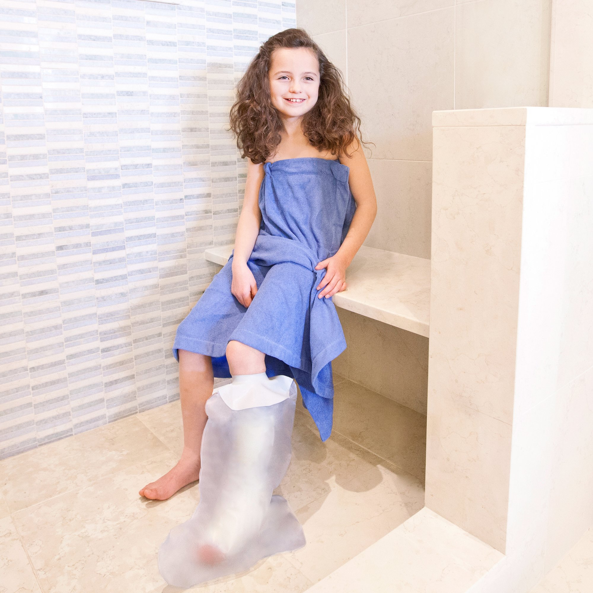 Seal Tight Freedom Cast and Bandage Protector, Best Watertight Protection, Pediatric Leg 23 inch