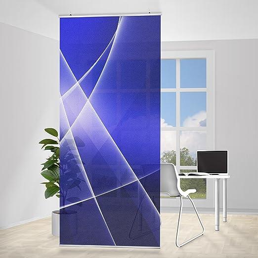 Panel japones Blue Disco, Tamaño: 250 x 120cm, panel japonés, paneles japoneses, separadores de ambientes, cortina, paneles japoneses cortina, cortinas: Amazon.es: Hogar